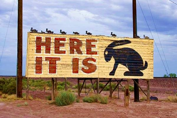 Here it is! Jack Rabbit Trading Post, Route 66, Joseph City, Arizona