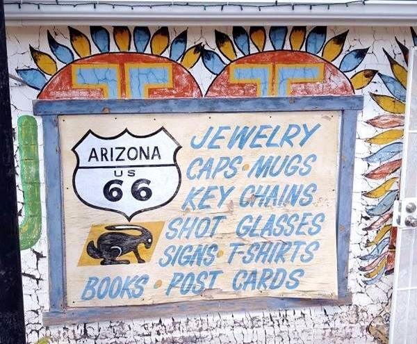Wall at Jack Rabbit Trading Post, Route 66, Joseph City, Arizona
