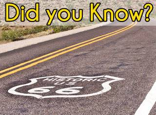 Route 66's Facts, figures and trivia