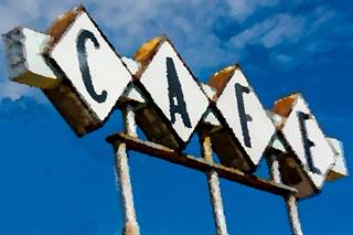 Hickory Cafe Sign, Vega TX, by A. Whittall